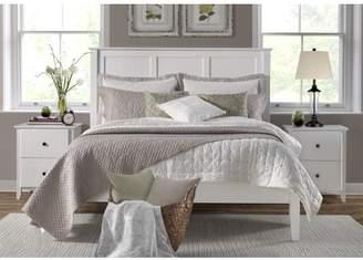 Camaflexi Shaker Style Panel King Size Bed - White Finish