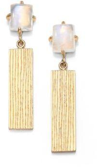 Kelly Wearstler Pedra Rainbow Moonstone Drop Earrings