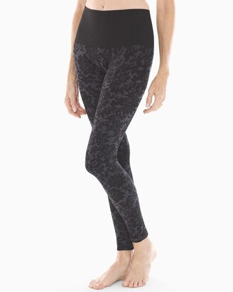 Soma Intimates Slimming Legging Lace Tapestry Black