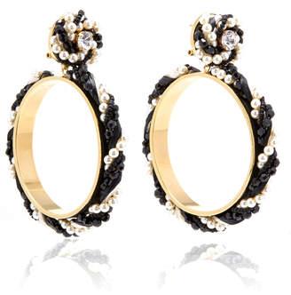 Shourouk Riri Black Earrings