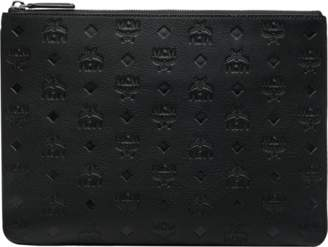 MCM Crossbody Pouch In Monogram Leather