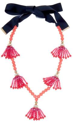 Trina Turk Beads in Bloom Beaded Tassel Station Necklace