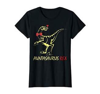 Womens Vintage AuntaSaurus Rex Tshirt Funny Aunt GIfts