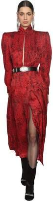 Leopard Silk Jacquard Dress