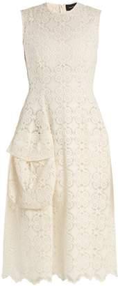Simone Rocha Sleeveless lace midi dress