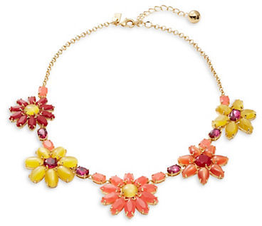 Kate Spade Kate Spade New York Brilliant Bouquet Floral Statement Necklace
