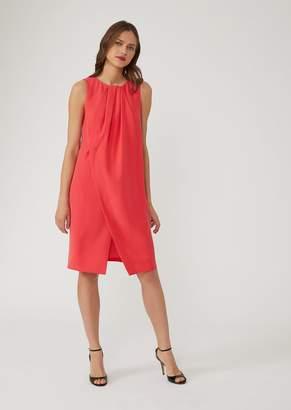 Emporio Armani Cady Dress With Pleat