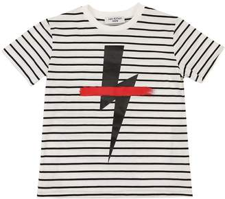 Neil Barrett Striped Cotton Jersey T-Shirt