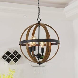 Williston Forge Belby 4-Light Single Globe Pendant Williston Forge