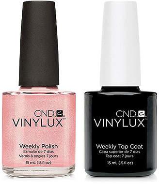 CND Creative Nail Design Vinylux Grapefruit Sparkle Nail Polish & Top Coat (Two Items), 0.5-oz, from Purebeauty Salon & Spa