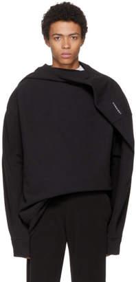 Y/Project Black Deconstructed Sweatshirt