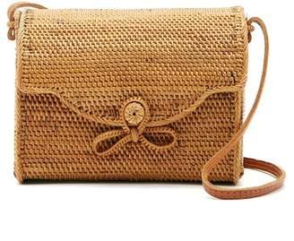 Pink Haley Joana Straw Mail Box Crossbody Bag