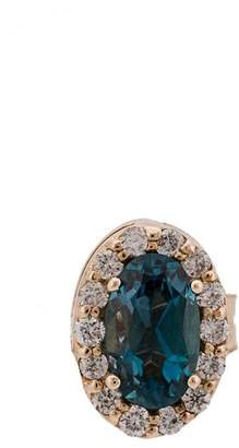 Alison Lou 14kt gold Gemstone stud earrings