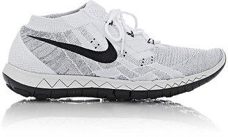 "Nike Women's ""Free 3.0 Flyknit"" Sneakers-WHITE $140 thestylecure.com"