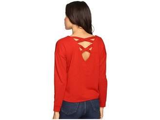 Splendid Crossback Top Women's Long Sleeve Pullover