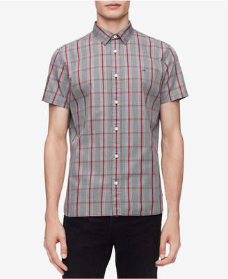 Calvin Klein Men Glenn Plaid Shirt