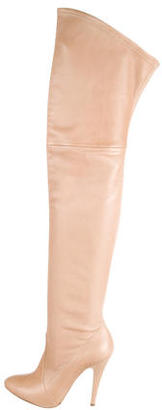 Casadei Leather Over-The-Knee Boots $295 thestylecure.com