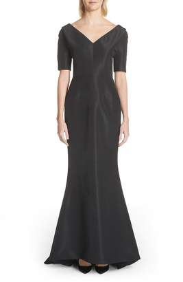 Carolina Herrera Silk Faille Mermaid Gown