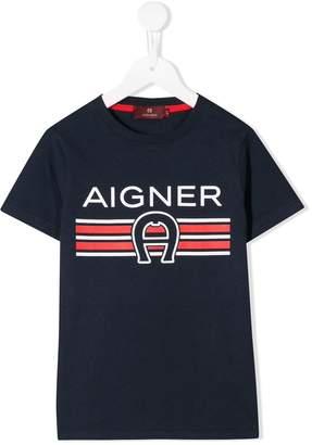 Aigner Kids logo print T-shirt