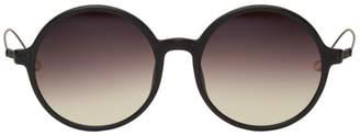 Ann Demeulemeester Black Linda Farrow Edition Matte Round Sunglasses