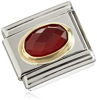 Nomination IKONS Composable Classic Red Agate (Red Agate) Partially Gold-Plated Stainless Steel Pendant 03050228 Gemstones