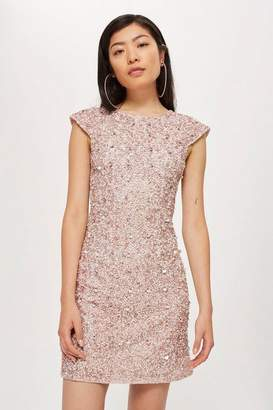 Topshop **Pica Shift Dress by Lace & Beads