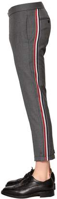 Thom Browne 17cm Skinny Side Band Wool Twill Pants