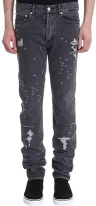 Givenchy Distressed Skinny Grey Denim Jeans