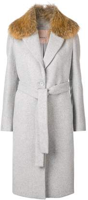 Twin-Set fur collared coat