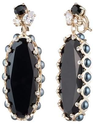 Carolee Stone Drop Clip-On Earrings