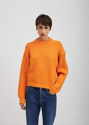 Acne Studios Penina Chunky Knit Sweater Bright Orange