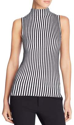 Kenneth Cole Sleeveless Ribbed Stripe Sweater