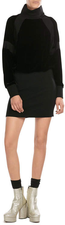 DKNYDKNY Knit Sweater Dress with Velvet