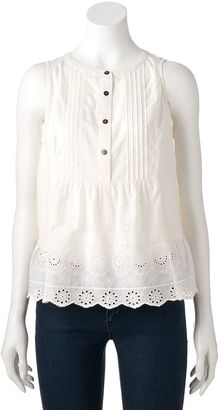 Women's SONOMA Goods for LifeTM Embroidered Eyelet Top $36 thestylecure.com