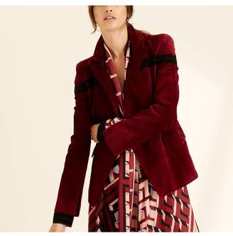 Amanda Wakeley Berry Fitted Suede Jacket
