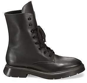 Stuart Weitzman Women's Mckenzee Leather Combat Boots