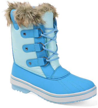 Journee Collection Womens North Water Resistant Block Heel Lace-up Snow Boots