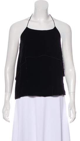 Alice + Olivia Velvet Halter Top w/ Tags