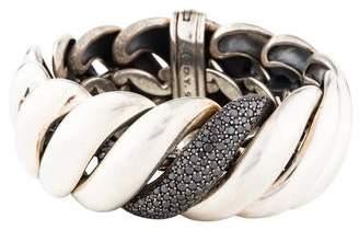 David Yurman Diamond Sculpted Link Bracelet