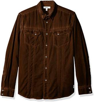 William Rast Men's Oak Long Sleeve Woven Shirt