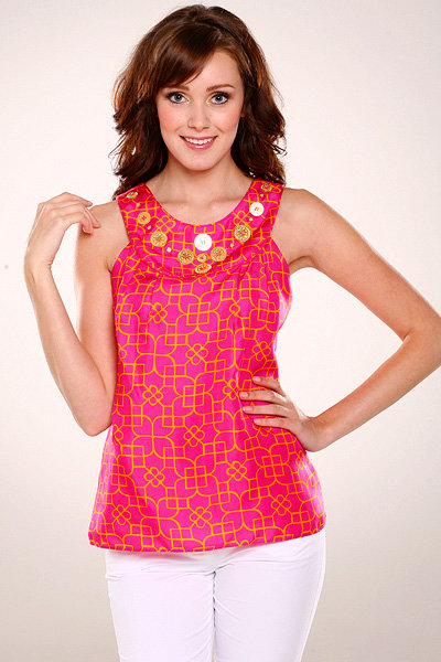 Milly Coin Beaded Bib Top