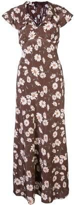 Michael Kors daisy print flared dress