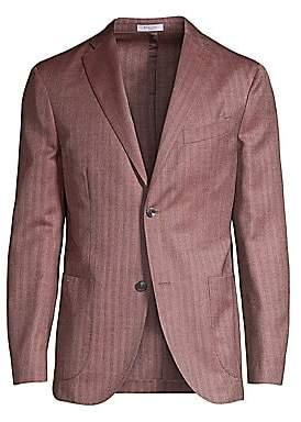 Boglioli Men's Herringbone Virgin Wool & Silk Jacket