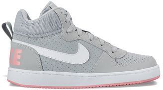 Nike Court Borough Mid Grade School Girls' Basketball Shoes $65 thestylecure.com