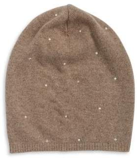 Portolano Studded Slouch Fur Hat