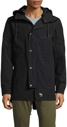 Superdry Men's Drawstring Hooded Jacket - Black, Size xl [x-large]