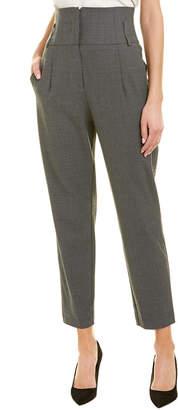 Pinko High-Waist Wool-Blend Pant