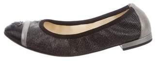 Chanel Iridescent Cap-Toe Flats