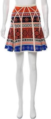 Diane von Furstenberg Samara Desert Bands Flare Skirt