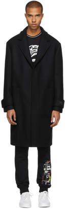 Versus Black Wool Coat
